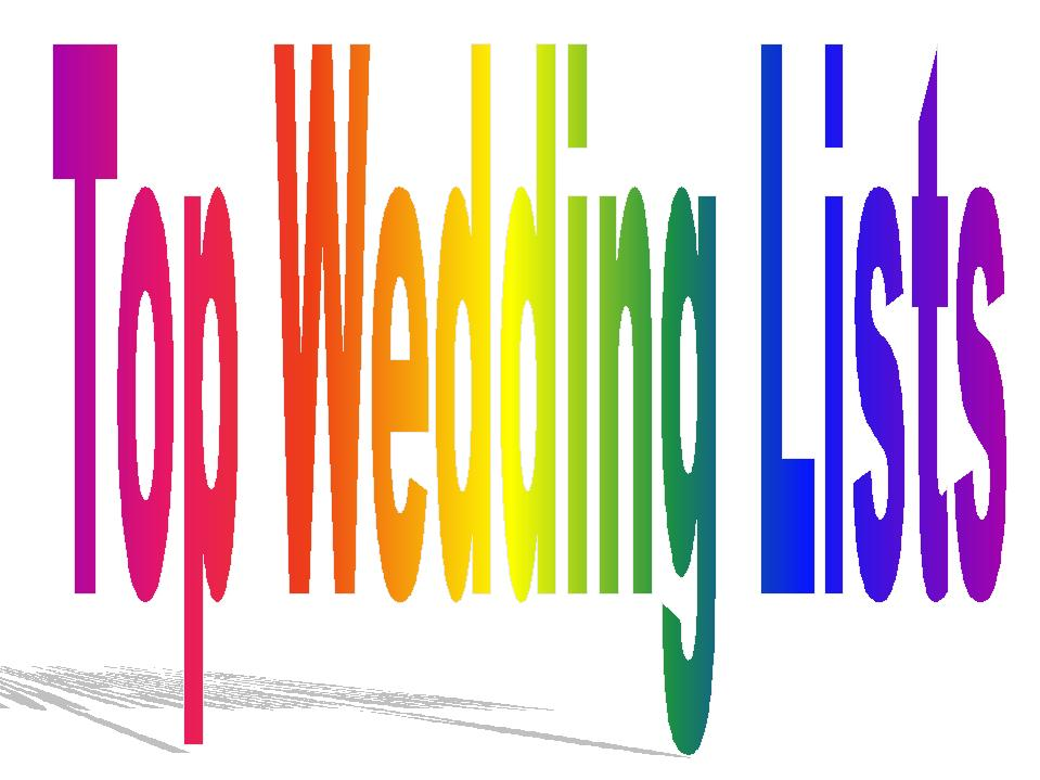 top wedding lists